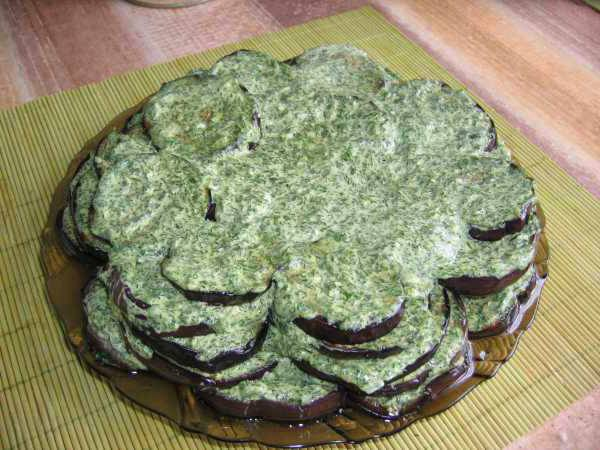 Готовим Закуски Баклажаны с зеленью