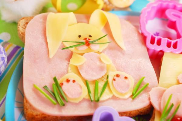 Готовим Закуски Детская Пасха: Бутерброд Пасхальный кролик