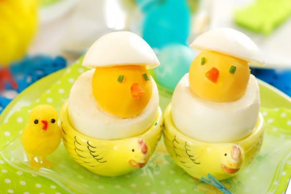 Готовим Закуски Пасхальные цыплята из яиц
