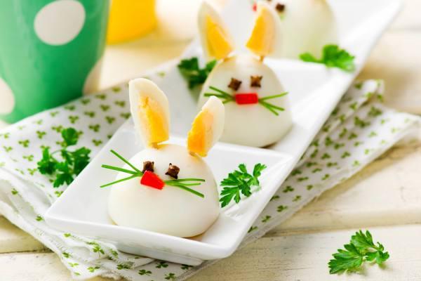 Готовим Праздники Пасхальные кролики из вареных яиц