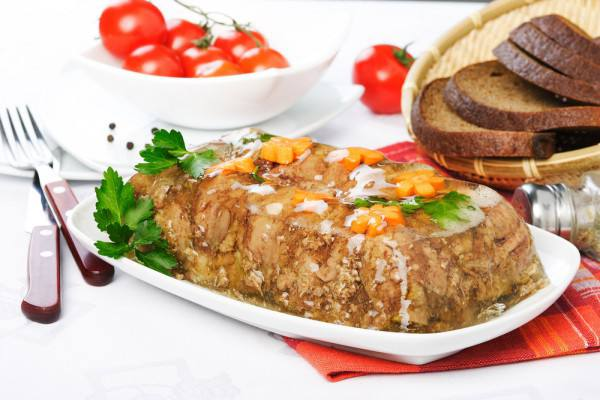 Готовим Закуски Пасхальные рецепты: Янтарный холодец