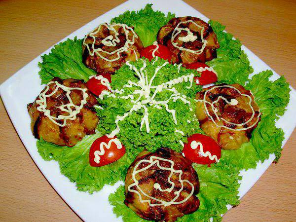 Готовим Закуски Тимбале из кабачков с помидорами и сыром