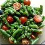 Теплый салат из зеленой фасоли