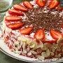 Торт со сливочно-клубничным муссом