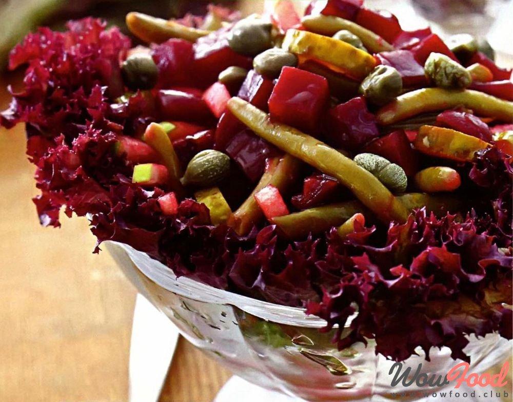Свекольный салат со стручковой фасолью