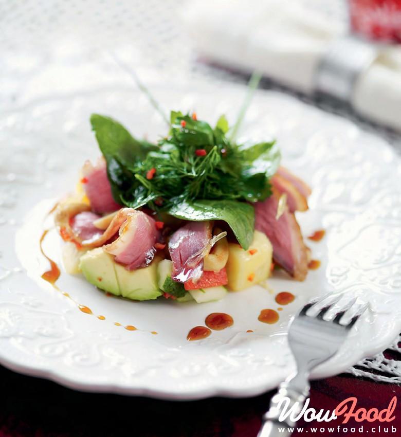 Салат из утиной грудки рецепт