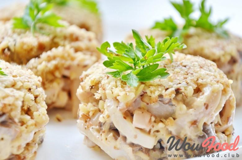 салат с яичными блинами рецепт