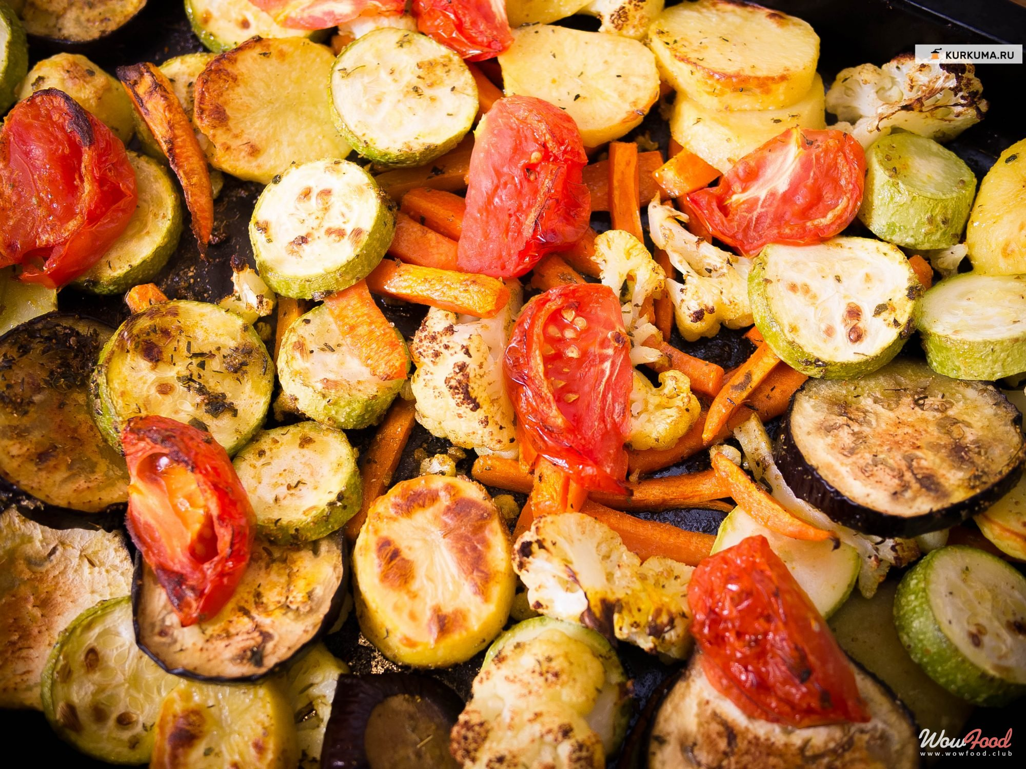 Готовим Вегетарианские Запеченные овощи