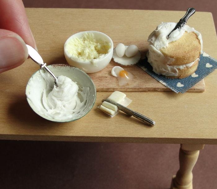 Процесс приговтоления торта