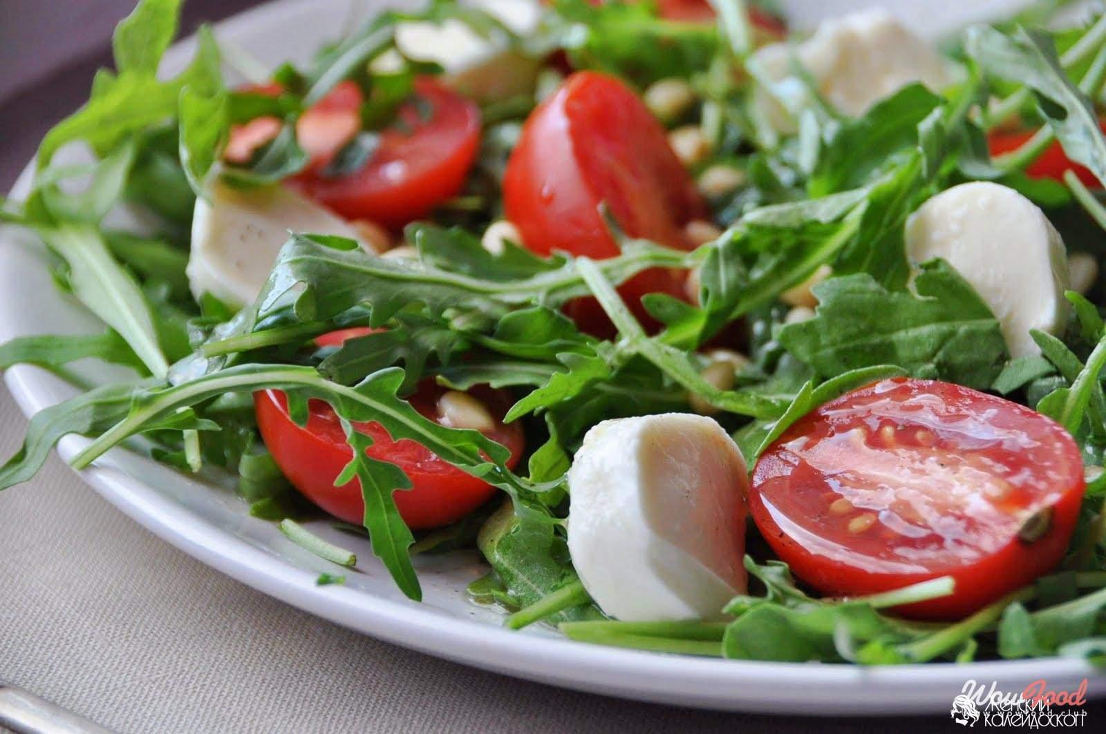 Все виды зелёного салата и руккола