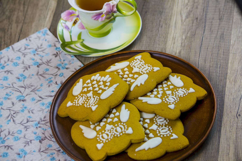 Десерты Имбирно-медовое печенье