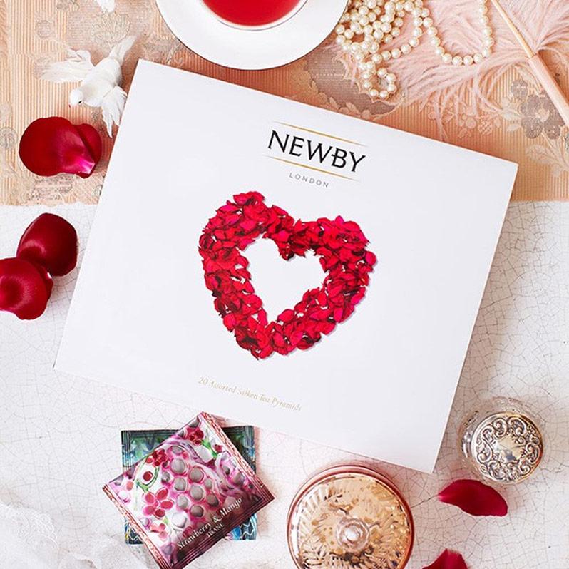 Newby From the Heart подарочный набор листового чая в пирамидках (4 вкуса)
