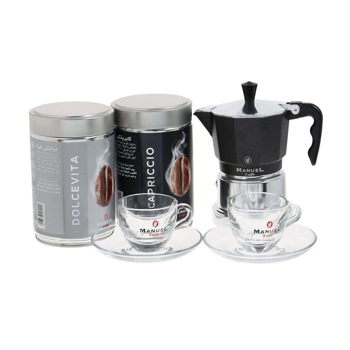 Manuel Caffe Gift Box Black подарочный набор молотого кофе