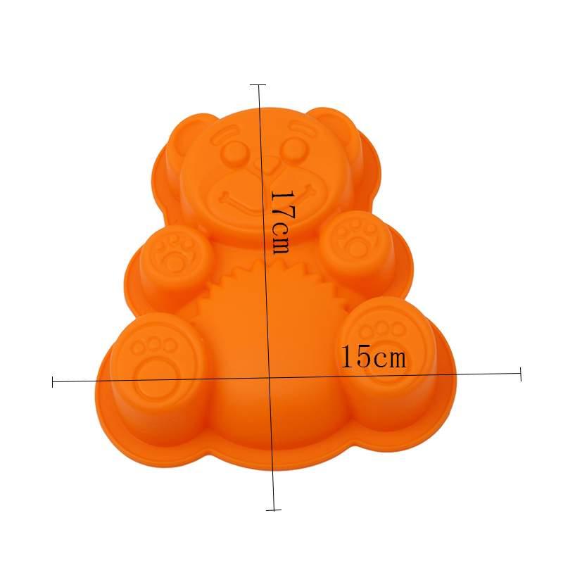 Силиконовая форма для выпечки Медвежонок